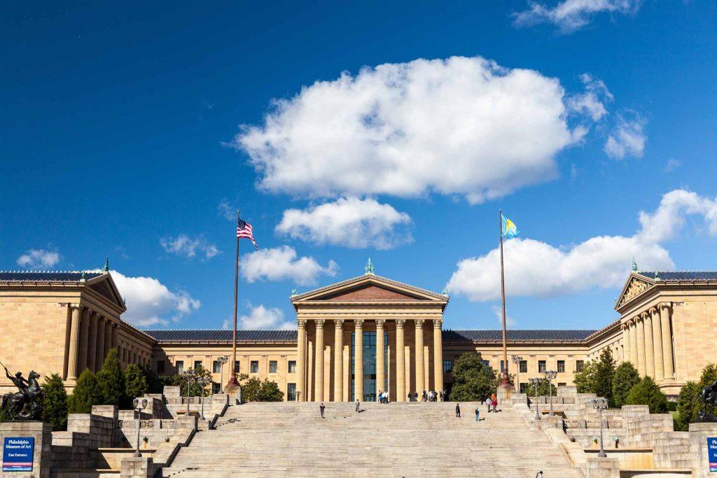 מדרגות הניצחון בכניסה למוזיאון האמנות בפילדלפיה | טיול מאורגן